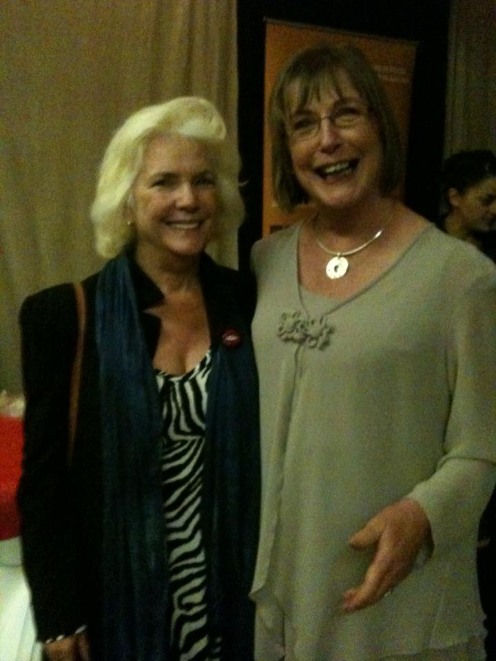 With Fionnuala O'Flanagan at Galway Film Fleadh